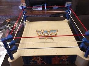1985 WWF LJN Sling Em Fling Em Wrestling Ring Turnbuckles