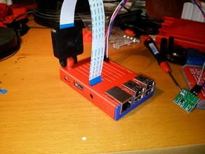 Raspberry Pi B+ / 2 / 3 / 3B+ Case with cutouts for CAM/GPIO and optional camera mount
