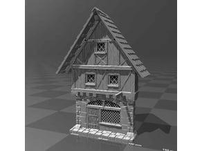 Medieval house facade 3