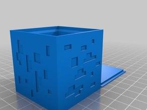 Minecraft Diamond Ore Cube (remix from user I_am_me)