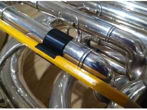 Tuba slide pencil clip