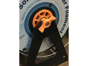Filament spool holder and wing nut