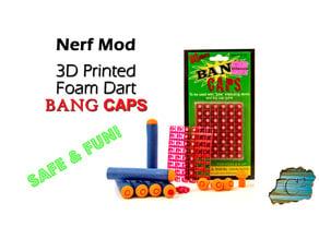 Extra-Loud Nerf Dart Tips:  Bang Cap Darts