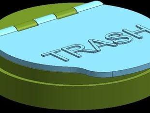 Salt Box Table Top Trash Can