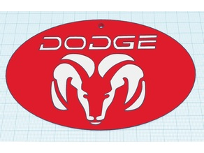 Dodge Ram keychain or scale up for wall art