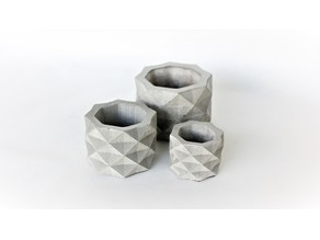 Geometric Concrete Pot Mold