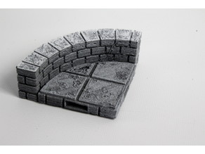 OpenForge Cut-Stone OpenLOCK Curved Half Height Walls