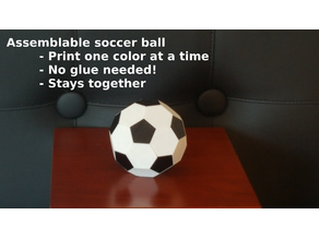 Soccer ball (Truncated icosahedron) assembly