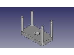 Soporte cámara acción adaptable a tripode (Support camera action adaptable to tripod)