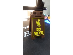 Wyoming Cowboy Mini Floor Stand