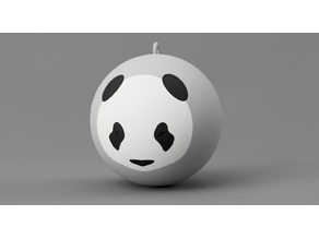 Panda Christmas ball ornament 3 colors