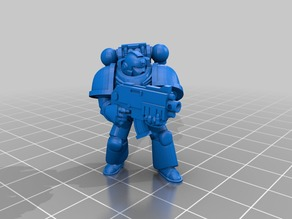 Space Marine (Aiming poses) baseless
