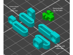 Cable clips for enclosures and Prusa Bear