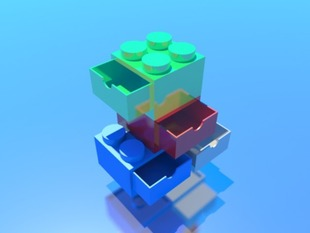 Stackable Legolike Container Lego modular