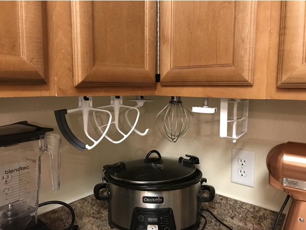Under The Cabinet Kitchenaid Stand Mixer Attachment Racks