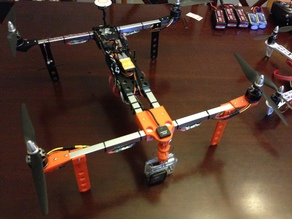 MultiRotor H Quadcopter,  28xx & 35xx GoPro, various leg styles for 15.5mm Aluminum Square Tube with OpenSCAD Source - REMIX