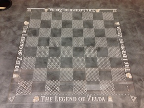 Laser Etched Legend of Zelda Chess Board