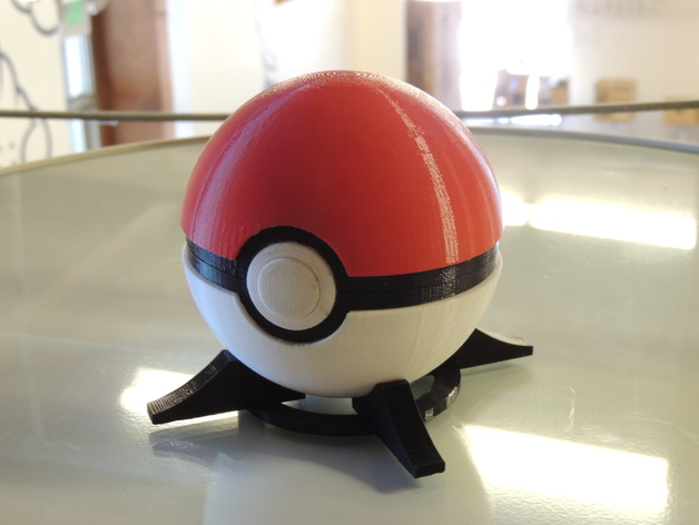 Pokeball (with button-release lid) by Intentional3D - Thingiverse