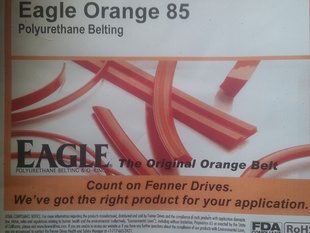Printing in Polyurethane Rubber using Fenner Drives' Eagle Orange