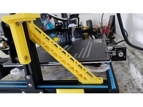 CR-10 Frame Brace for Dual Z utilizing a single V-Rail Slot