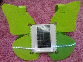 Solar-LED-3D-Printed Butterfly Safety Vest