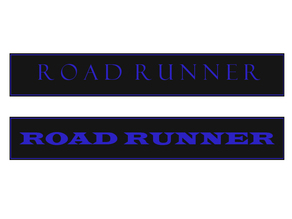 Roadrunner rear badge