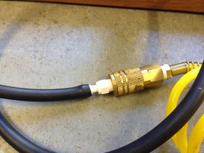 Pneumatic Quick Disconnect Fitting with Hose Barb