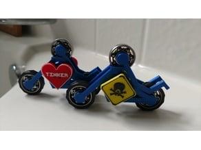 MOTORCYCLE STICKMAN FIDGET SPINNER