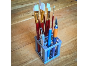 Paint Brush Pen Pencil Tool Rack Holder Stand