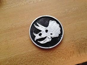 Triceratops Medallion