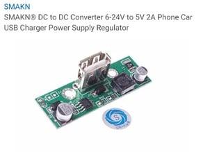 Case for SMAKN DC to DC Converter 6-24v to 5v 2A Charger Regulator