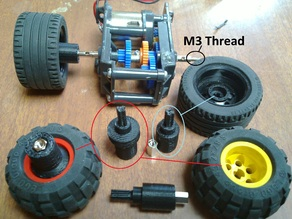 Lego Wheel Axle for Motor/Gearbox