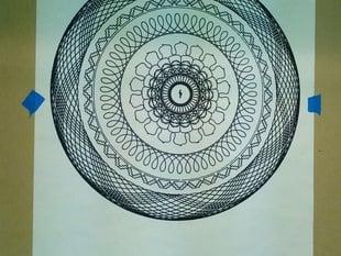 Spirograph Sharpie Art By CNC