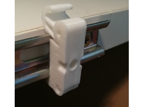 Mini-DIN Top Hat Rail Clip