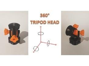 3 way tripod head