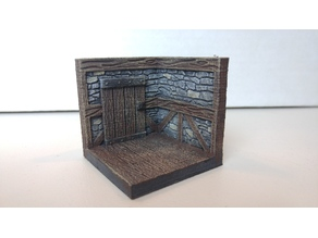 threednd stone wall corner door