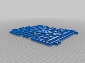 Pac-man maze 3D wall art