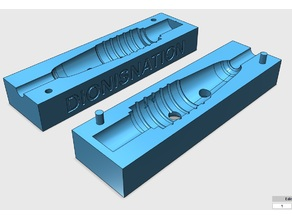 Press mold for notebook power connector Ø7.4 mm