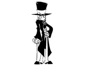 Black Hat stencil