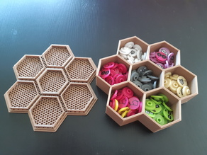 7 Hex Container for Small Parts and Games