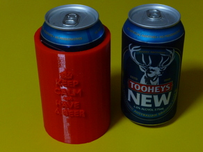 Stubby holder - suits 375mL can - keep calm and have a beer