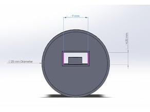 TP4056 Holder 25mm Diameter