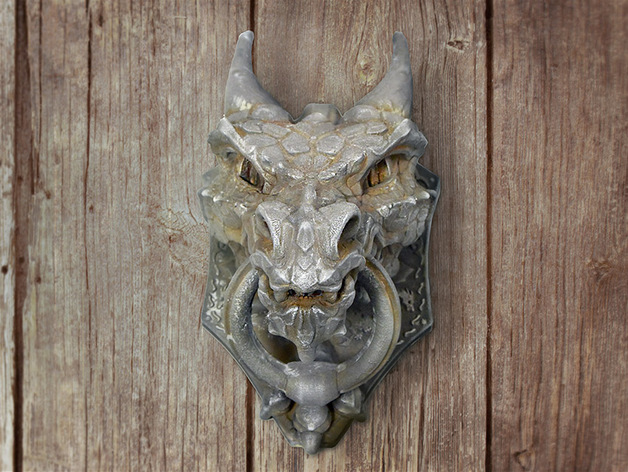Dragon Door Knocker By Shira Thingiverse
