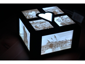 Heart Lithophane Lamp