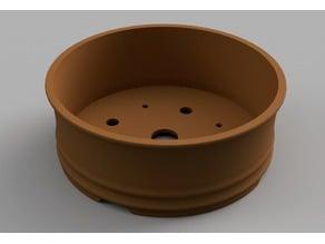 Bonsai Pot Circular with Bottom Lips - No Support Print
