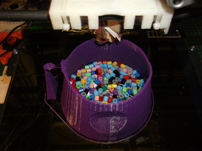 Purple Tentacle 'shaker' - BIGGER and hollow
