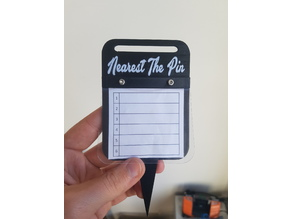 Longest Drive and NTP Golf Competition Markers