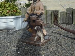 Brigintine, NJ Museum Outdoor Sculpture Mariner with Dog