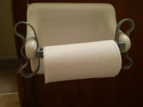 Toilet paper holder extender + quick change
