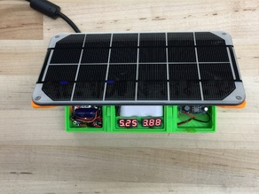 Solar USB Charger w/ Voltage Monitors
